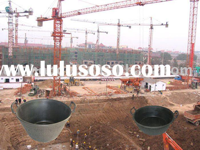 23L construction basin with handle