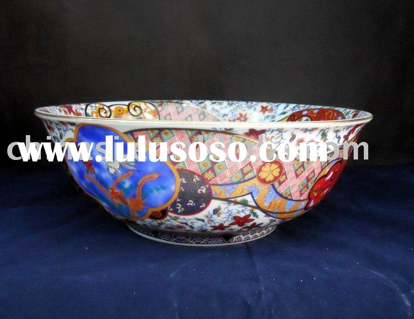 Handmade Antique Porcelain Wash Sink with beautiful patterns WRYBG15