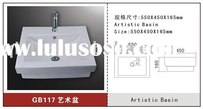 Rectangle Ceramic Art Wash Basin