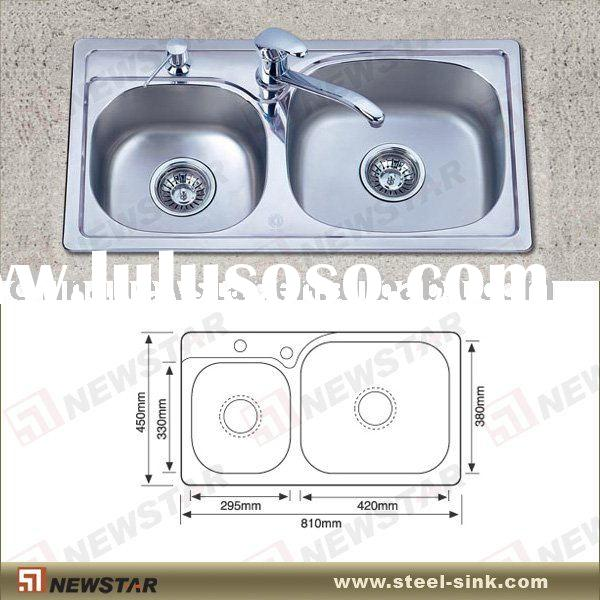 Table top stainless steel kitchen wash basin