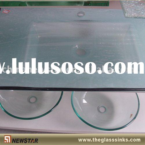 Tempered glass vanity basin