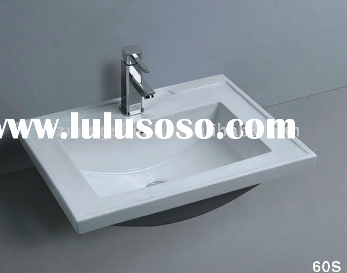 White vitreous china,Washing basin,Ceramic basin,Counter basin,Bathroom sink,Wash basin