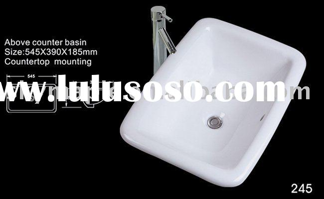 ceramic drop in bathroom hand  wash basin