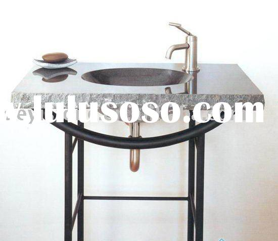 granite wash basin with the stone counter