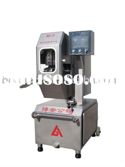 mechanical aluminium double clipping sealing machine