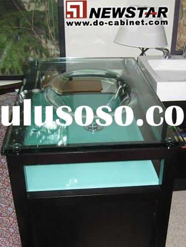 supply transparent glass basin,tempered glass vanity