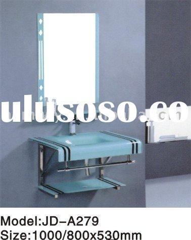 tempered glass vanity