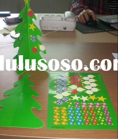 12 Fabulous Paper 3-D Christmas Trees & Stickers