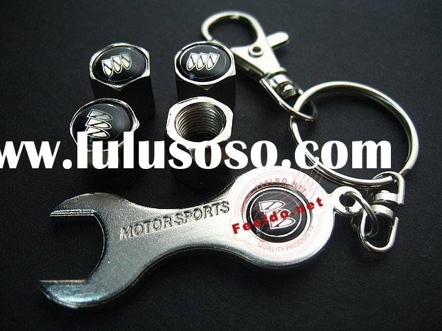 Buick for Car Tire Valve Caps Cover 4pcs + wrench key chain