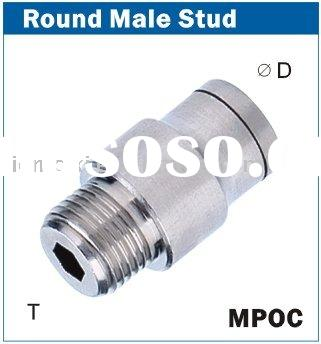 Metal pneumatic tube fittings -----straight male connector