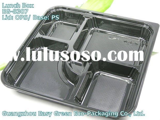 Newest Lunch Box, Plastic Disposable Bento Box EG-8307