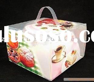 PVC clear transparent cake gift packaging box