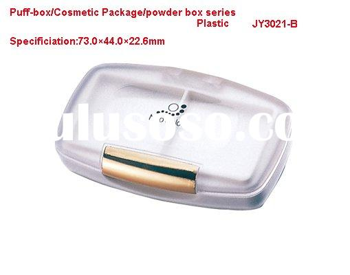 Puff-box/Powder Compact case/Kohl box/Eye shadow box/Making Up cases-Aluminum +Plastic