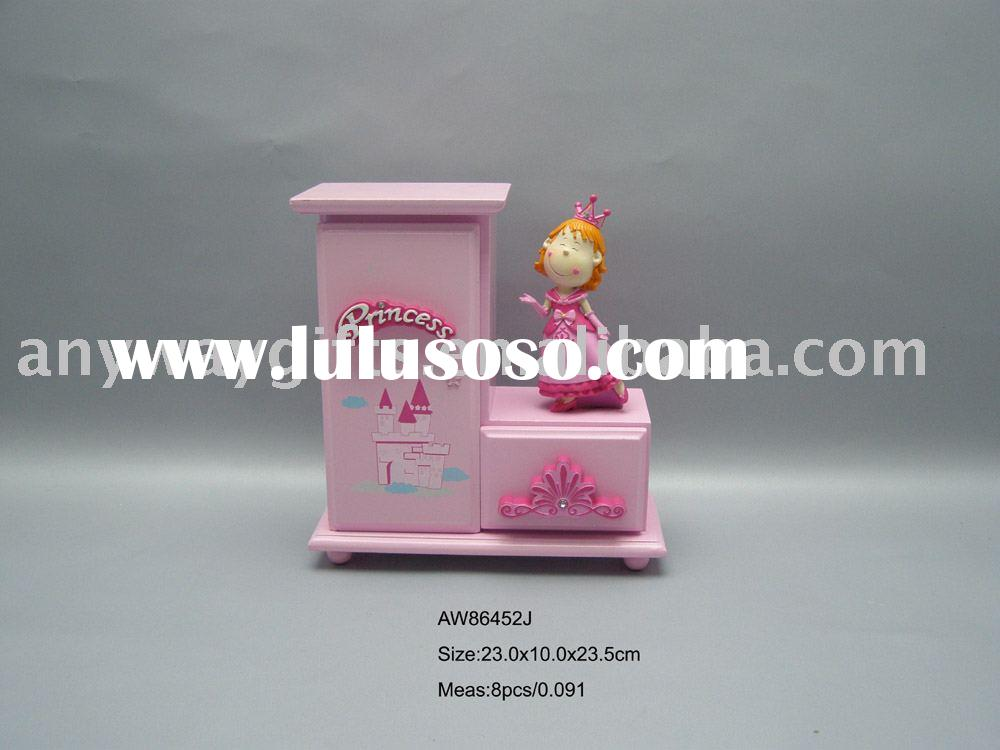 Resin princess wooden jewelry box--polyresin gifts promotion gifts home decoration