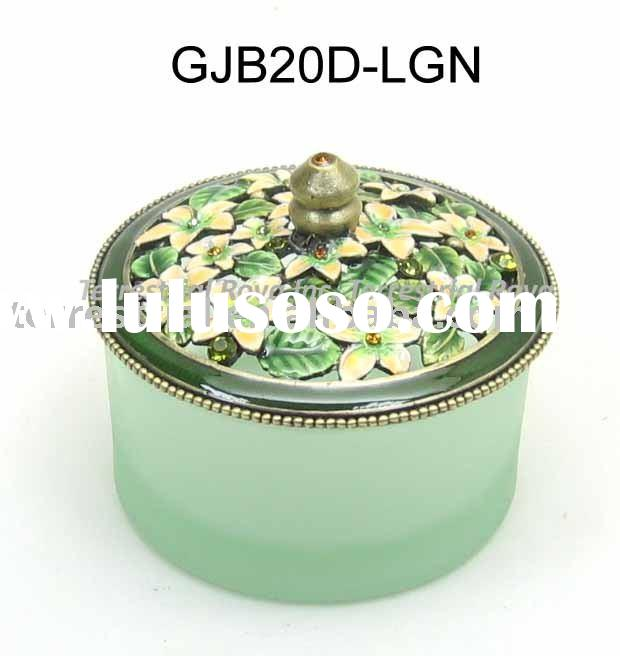 Round Decorative Boxes: Small Decorative Trinket Box Jewelry Box For Girl For Sale