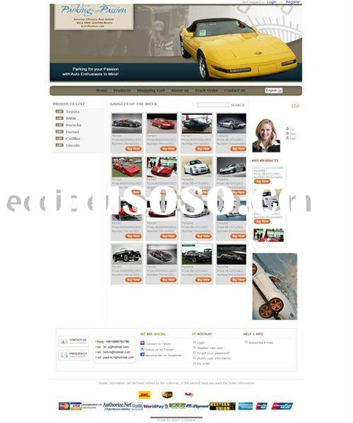 Sport and Fast Car Website Design
