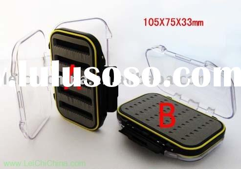 Super small Double sided clear lid waterproof fly box