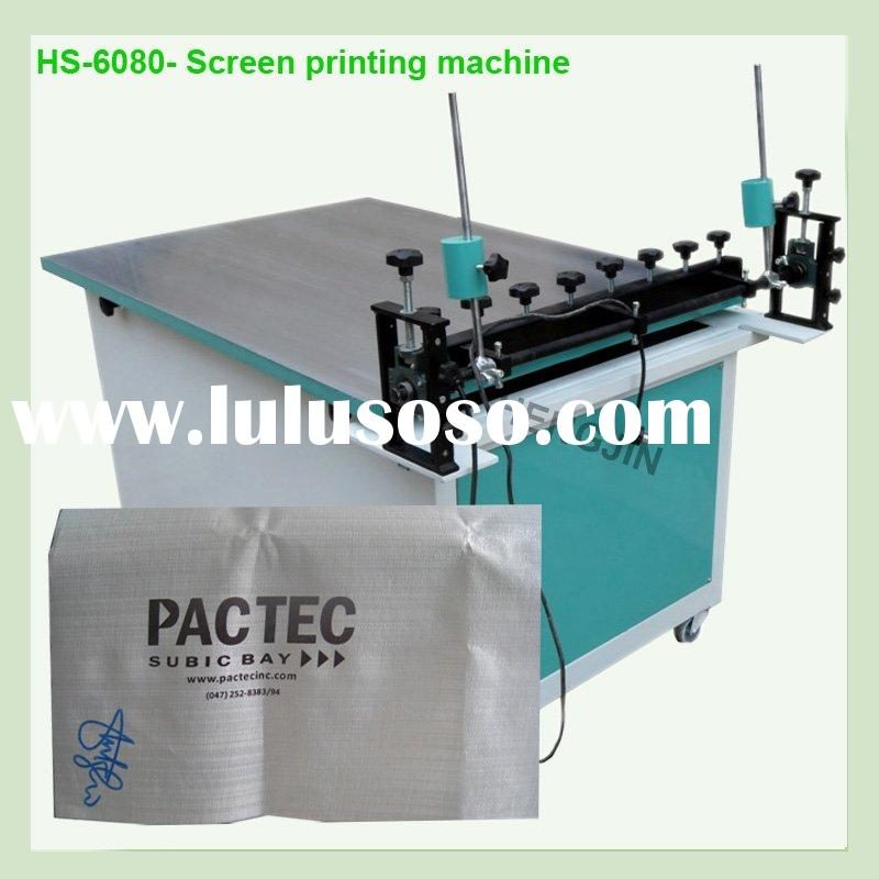 T pp material  Manual Silk Screen printing machine for woven bags
