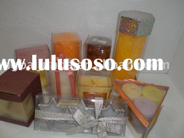 beautiful gift candle plastic boxes small clear