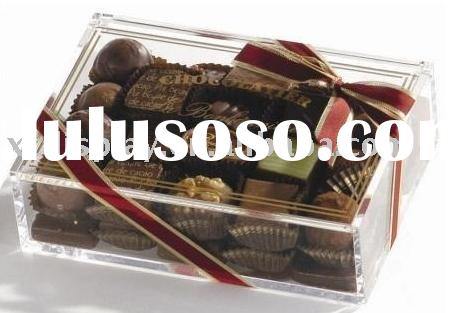 chocolate gift acrylic box plexiglass box crystal box
