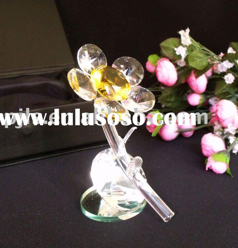 crystal flower centerpiece