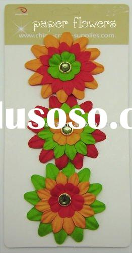 paper flowers for scrapbooking