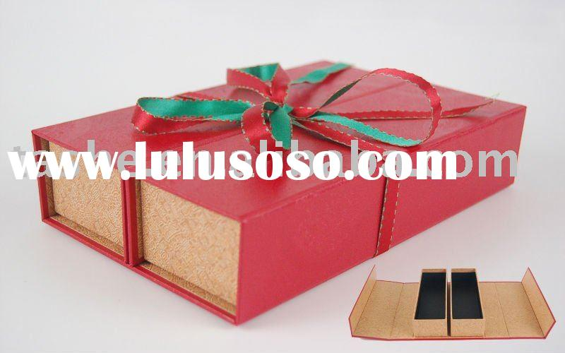 premium chinese foldable double cells paper gift box
