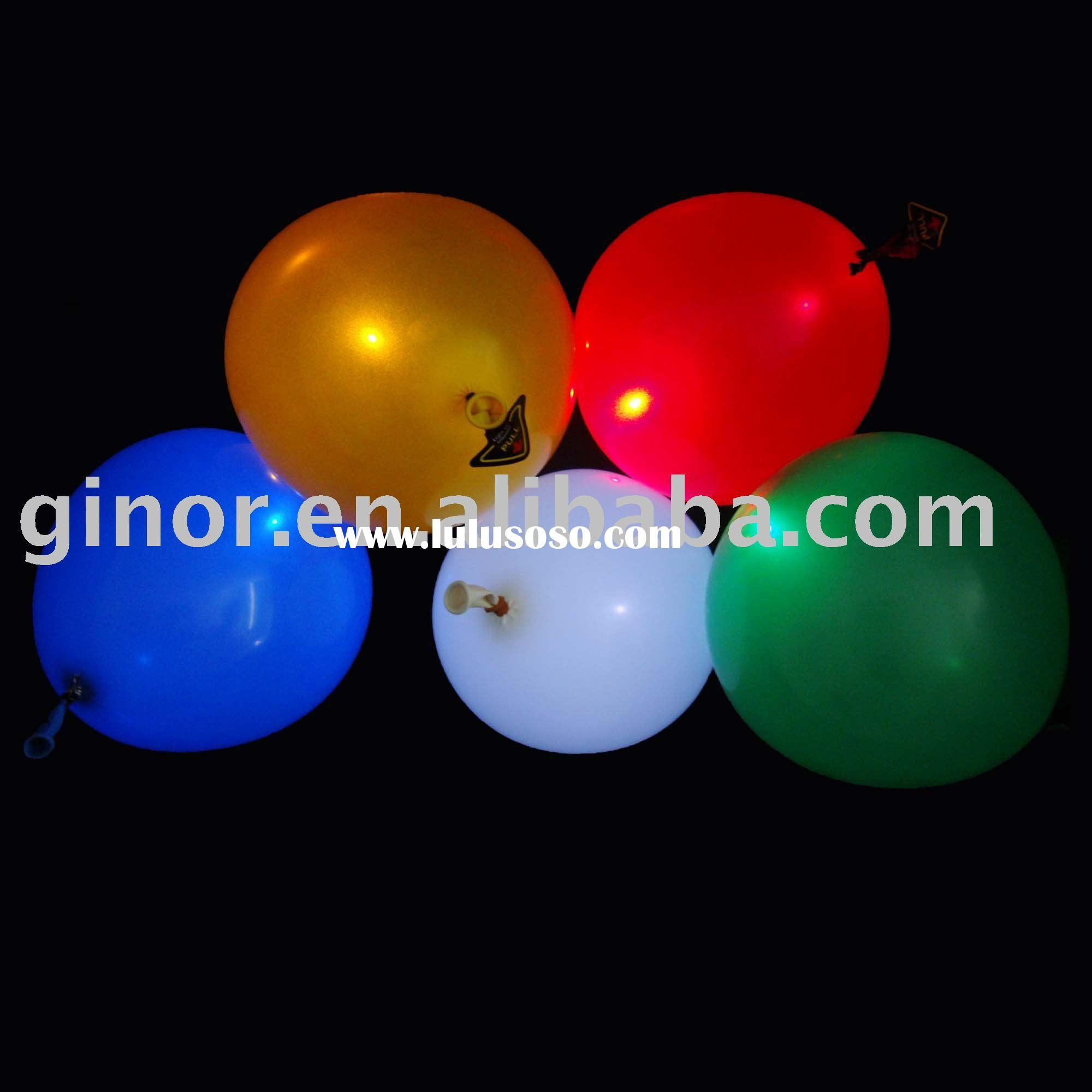 Advertising balloon with light