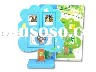 Apple tree photo frame alarm clock