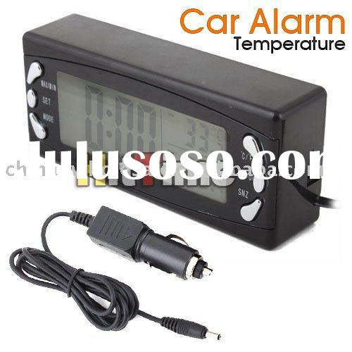 Digital Auto Car Thermometer Temperature Alarm Clock