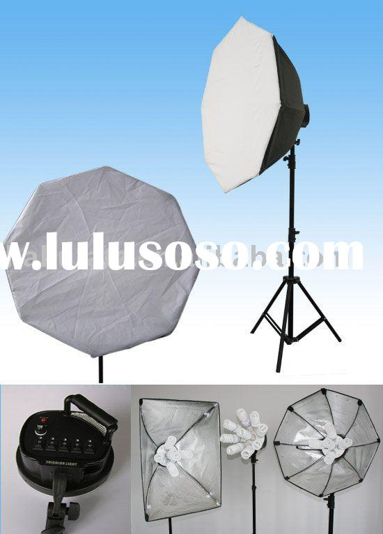 Digital photo studio 9-socket soft box lighting kit