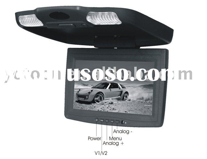 FLIP DOWN OVERHEAD Silm LCD CAR MONITOR TV/DVD PLAYER+USB/SD