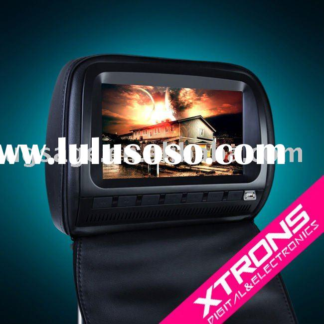 """HD903: 2x9"""" headrest DVD player with  Zip cover"""