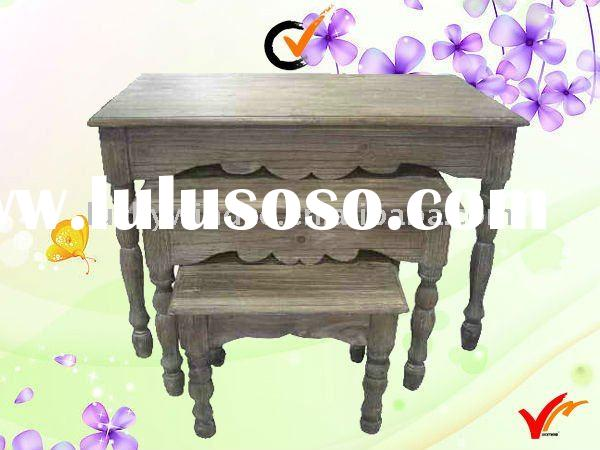 LWPW94012 antique wooden garden table