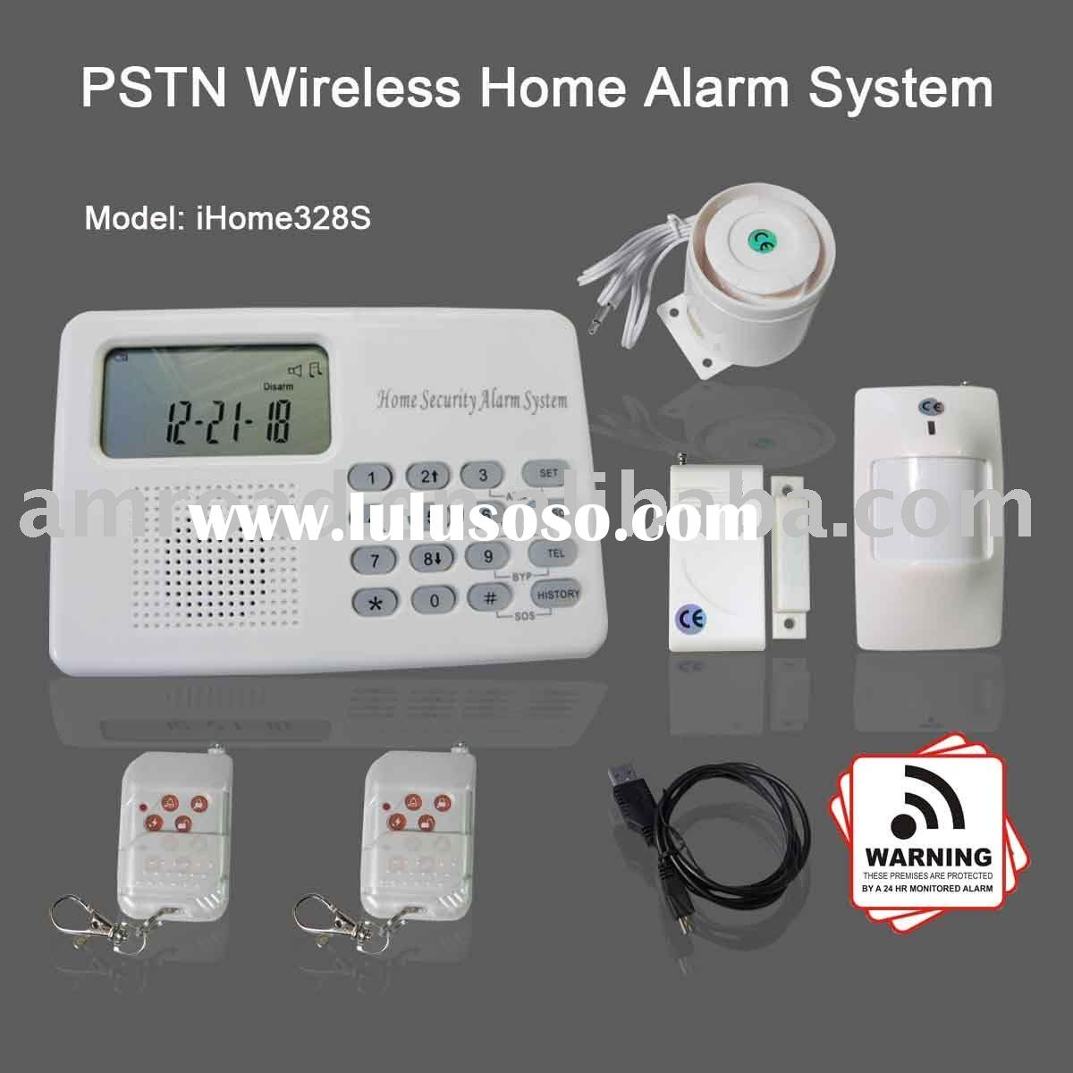 PSTN LANDLINE WIRELESS HOME SECURITY BURGLAR INTRUDER ALARM SYSTEM W AUTO DIALER
