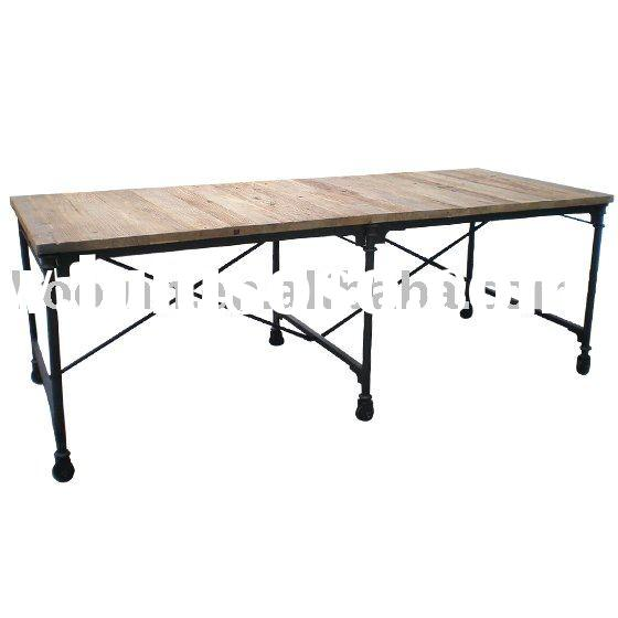 Reclaimed Wood Furniture (Elm Dining Table)