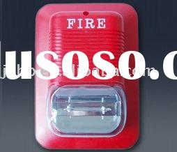 Sound and light fire alarms