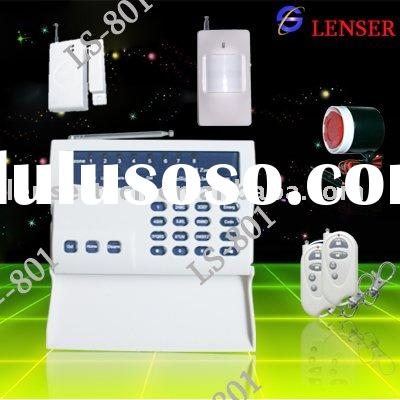 Wireless Alarm System with remote control centre monitor