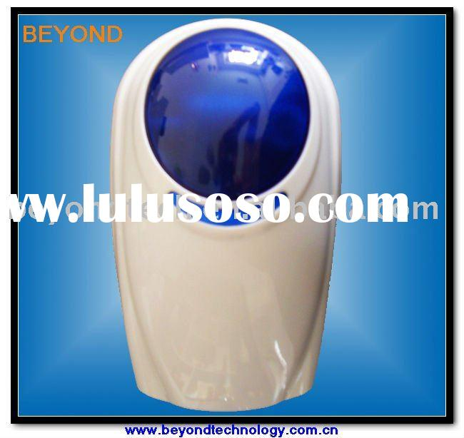 Wireless or wired outdoor alarm siren with flash