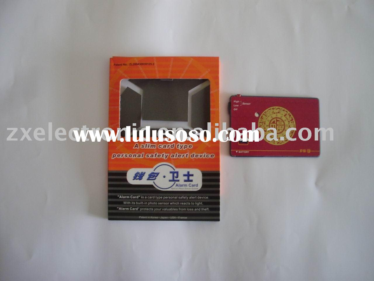 all kinds of  Wallet Alarm Card for personal safety alert device