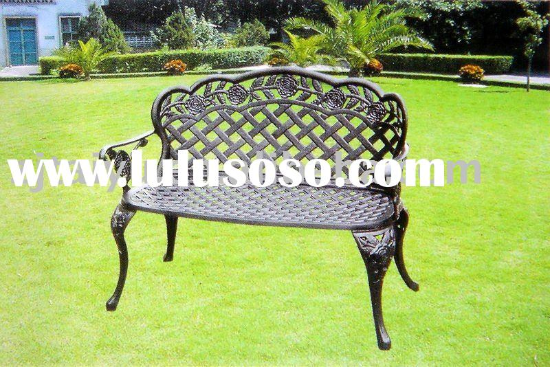 cast aluminum garden bench/outdoor furniture