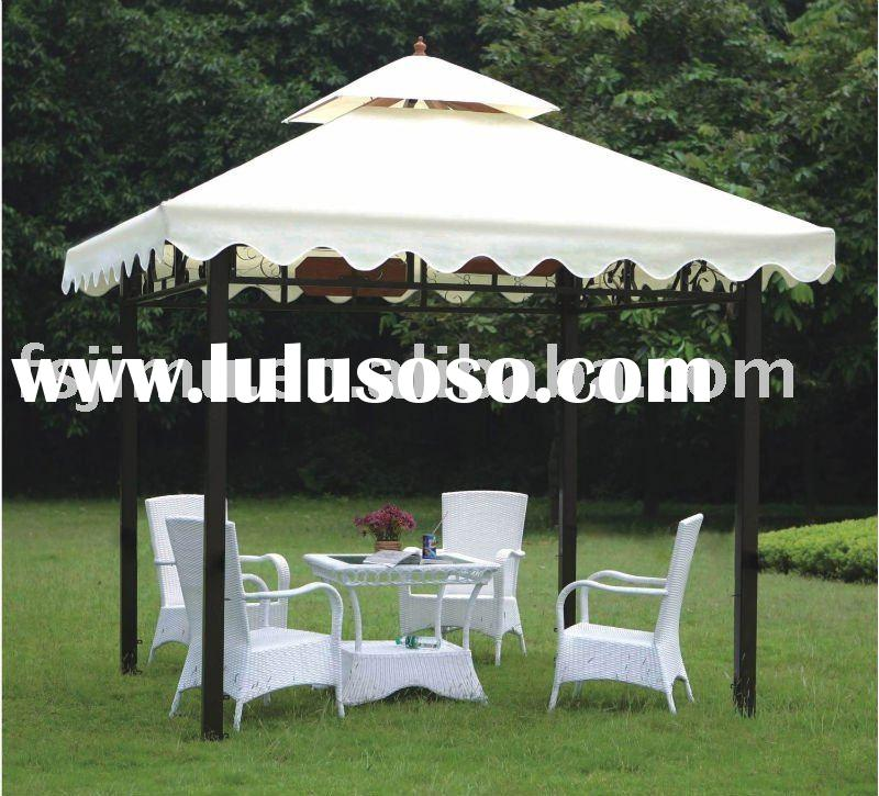 garden leisure furniture white table 4 chairs