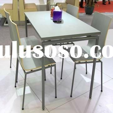 modern wood metal restaurant dining table with chair