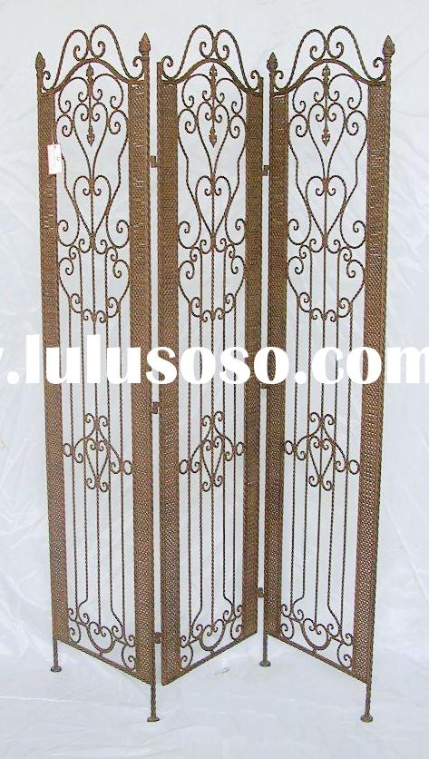 wrought iron craft room divider
