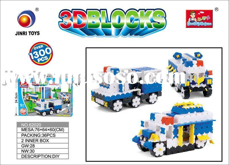 1300pcs Small size block toys, police car toy set, educational toys,62020