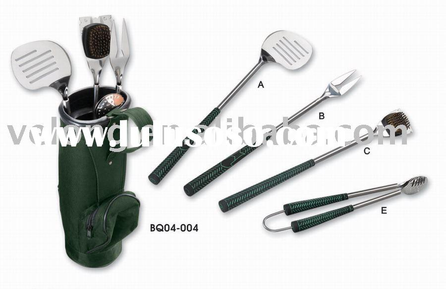 4pcs BBQ tool Set in Golf Bag