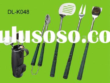 5PC GOLF BBQ TOOL SET WITH GOLF BAG