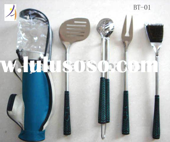 5pcs Golf Style BBQ Tool Set