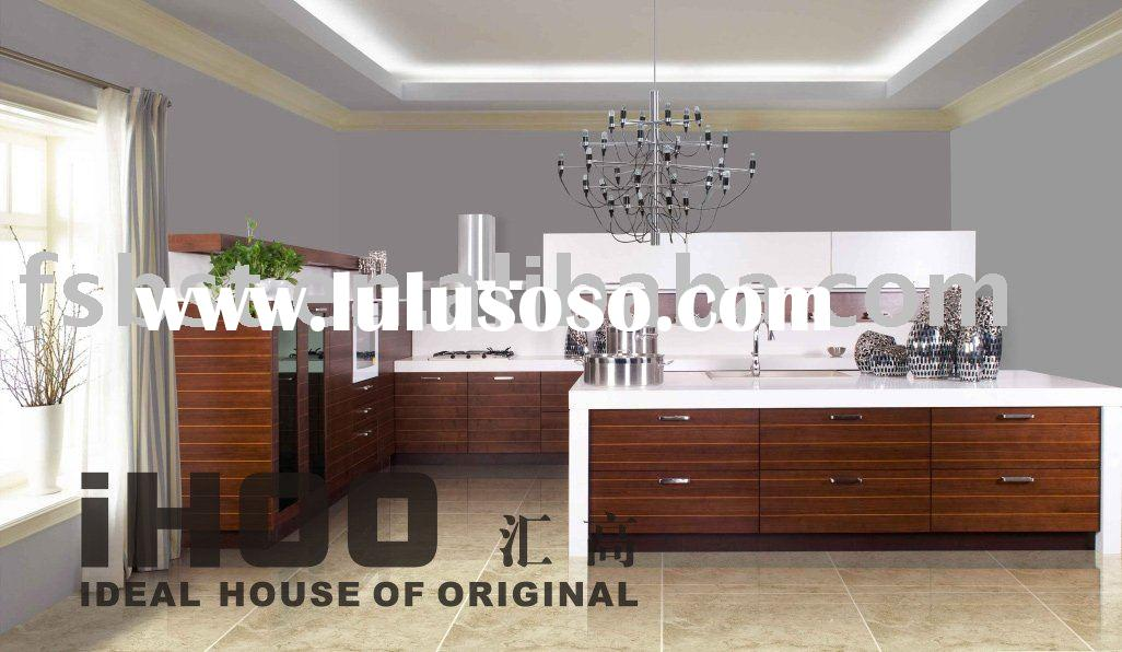 Walnut color available wood kitchen cabinet for sale for American walnut kitchen cabinets