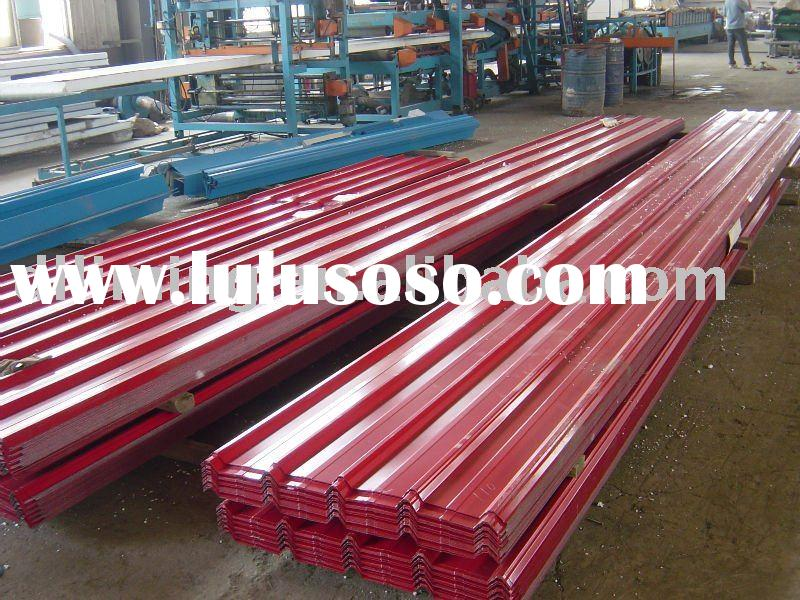 Corrugated steel sheet building material